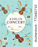 violin concert poster. classic... | Shutterstock .eps vector #772682710