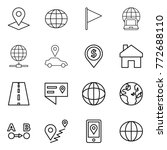 thin line icon set   pointer ... | Shutterstock .eps vector #772688110