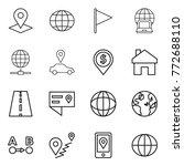 thin line icon set   pointer ... | Shutterstock .eps vector #772688110