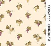 grape branch seamless pattern....   Shutterstock .eps vector #772690558