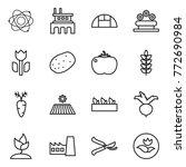 thin line icon set   atom ... | Shutterstock .eps vector #772690984
