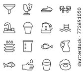 thin line icon set   funnel ... | Shutterstock .eps vector #772691050