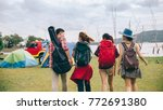 group of friends asian camp... | Shutterstock . vector #772691380