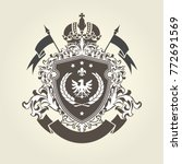 royal coat of arms   heraldic... | Shutterstock .eps vector #772691569