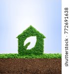 nature is home concept. grass... | Shutterstock . vector #772691638