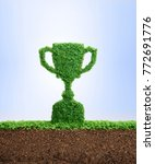 grass growing in the shape of a ... | Shutterstock . vector #772691776
