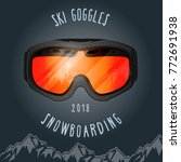 ski goggles and mountains  ... | Shutterstock .eps vector #772691938