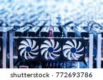 bitcoin miner. cryptocurrency... | Shutterstock . vector #772693786