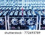 bitcoin mining farm. it...   Shutterstock . vector #772693789