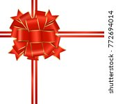 red decorative bow  bow for... | Shutterstock .eps vector #772694014