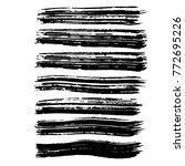brush stroke set. texture. | Shutterstock .eps vector #772695226