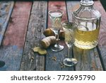 homemade ginger tincture or ale ...   Shutterstock . vector #772695790