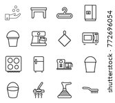 thin line icon set   chemical... | Shutterstock .eps vector #772696054