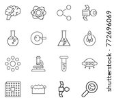 thin line icon set   brain ... | Shutterstock .eps vector #772696069