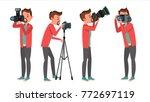 photographer vector. modern... | Shutterstock .eps vector #772697119