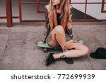 the body of attractive slim... | Shutterstock . vector #772699939