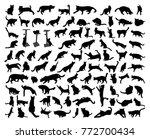 93 black isolated cat... | Shutterstock .eps vector #772700434