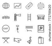 thin line icon set   globe ... | Shutterstock .eps vector #772700620