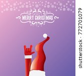 vector cartoon rock n roll... | Shutterstock .eps vector #772701079