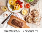 ingredients for a delicious... | Shutterstock . vector #772702174