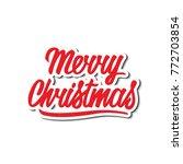 merry christmas vector text... | Shutterstock .eps vector #772703854