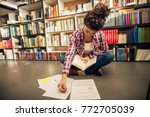 concept of education  library ... | Shutterstock . vector #772705039