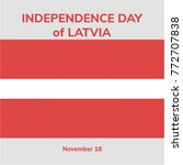 latvia independence day. 18... | Shutterstock .eps vector #772707838