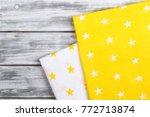 print fabric star   Shutterstock . vector #772713874