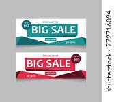 sale banner template design.... | Shutterstock .eps vector #772716094