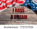 happy martin luther king day... | Shutterstock . vector #772717534