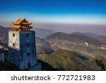 beautiful scenic of fansipan... | Shutterstock . vector #772721983