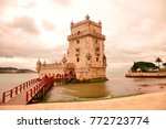 bel m tower with wooden bridge... | Shutterstock . vector #772723774