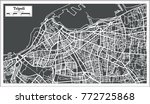 tripoli libya map in retro... | Shutterstock .eps vector #772725868