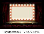 light bulb sign on a cinema or... | Shutterstock .eps vector #772727248
