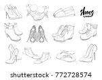 vector illustration of set hand ... | Shutterstock .eps vector #772728574