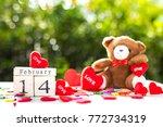 wooden calendar show date of... | Shutterstock . vector #772734319
