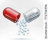 Capsule Pill And Molecules As...