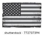 grunge american flag.vector... | Shutterstock .eps vector #772737394
