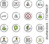 line vector icon set   metal... | Shutterstock .eps vector #772740619