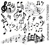 music notes collection | Shutterstock .eps vector #772740880