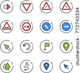line vector icon set   right... | Shutterstock .eps vector #772743334