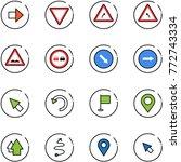 line vector icon set   right...   Shutterstock .eps vector #772743334