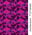 abstract camouflage pattern.... | Shutterstock .eps vector #772746460