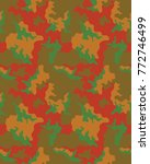 abstract camouflage pattern....   Shutterstock .eps vector #772746499