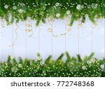 new year christmas composition... | Shutterstock .eps vector #772748368