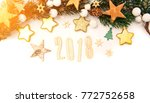 view of a happy new year 2018... | Shutterstock . vector #772752658