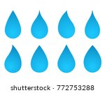 icons set of blue water drop... | Shutterstock .eps vector #772753288