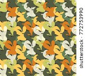 multicolored seamless pattern... | Shutterstock .eps vector #772753990