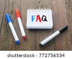 marker pens and notepad written ... | Shutterstock . vector #772756534
