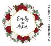 wedding invite  invitation ... | Shutterstock .eps vector #772758463